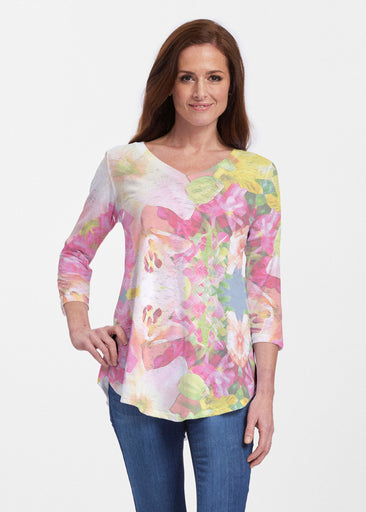 Mirage Pink (13140) ~ V-neck Flowy Tunic