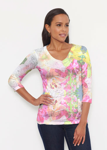 Mirage Pink (13140) ~ Signature 3/4 V-Neck Shirt