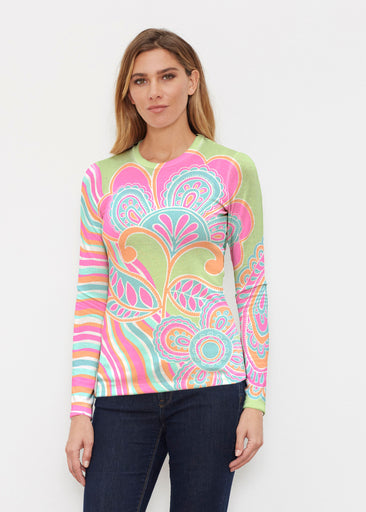 Juicy Wave (13142) ~ Butterknit Long Sleeve Crew Top