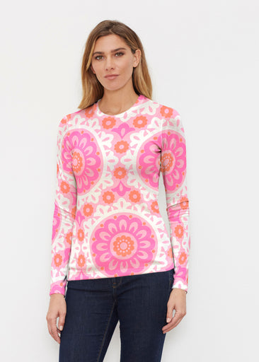 Suzani Pink (13160) ~ Butterknit Long Sleeve Crew Top