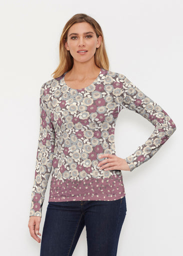 Berry Burgundy (13175) ~ Thermal Long Sleeve Crew Shirt