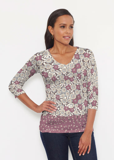 Berry Burgundy (13175) ~ Signature 3/4 V-Neck Shirt