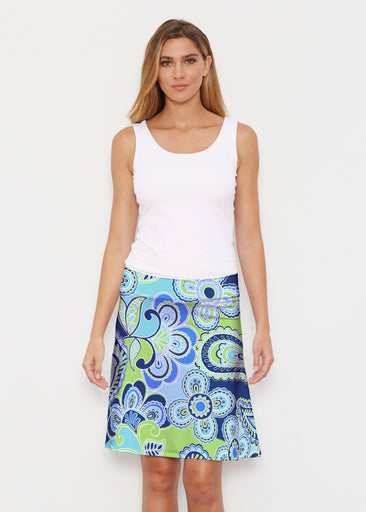 Pop Paisley Blue (13233) ~ Silky Brenda Skirt 21 inch