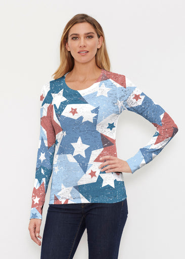 Freedom Starburst (13245) ~ Thermal Long Sleeve Crew Shirt