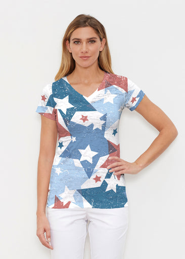 Freedom Starburst (13245) ~ Signature Cap Sleeve V-Neck Shirt