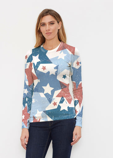 Freedom Starburst (13245) ~ Butterknit Long Sleeve Crew Top