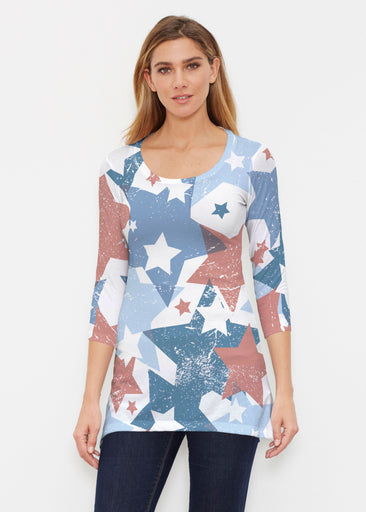 Freedom Starburst (13245) ~ Buttersoft 3/4 Sleeve Tunic