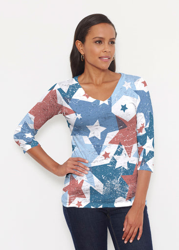 Freedom Starburst (13245) ~ Signature 3/4 V-Neck Shirt