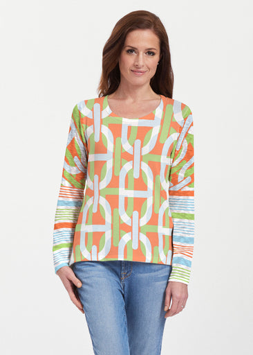 Mooring Lime (13248) ~ Texture Mix Long Sleeve