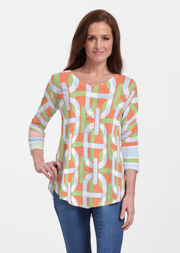 Mooring Lime (13248) ~ V-neck Flowy Tunic