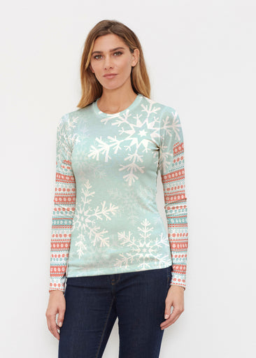 Snowstorm Mint (13251) ~ Butterknit Long Sleeve Crew Top