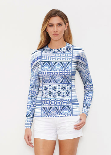 Sprout Blue (13271) ~ Long Sleeve Rash Guard