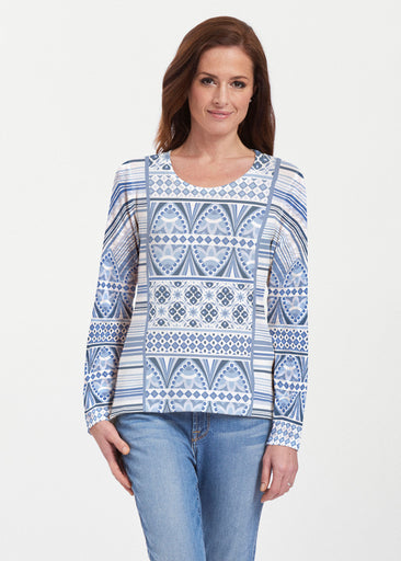 Sprout Blue (13271) ~ Texture Mix Long Sleeve