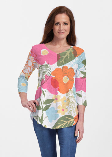 Awakening Multi (13280) ~ V-neck Flowy Tunic