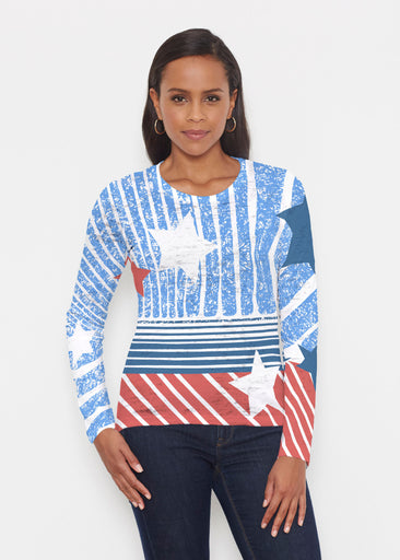 New World Blue (13296) ~ Signature Long Sleeve Crew Shirt
