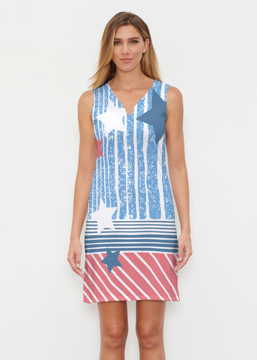 New World Blue (13296) ~ Classic Sleeveless Dress