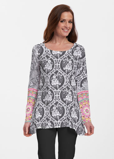 Moonlit Floral (13315) ~ Abigail Thermal Tunic