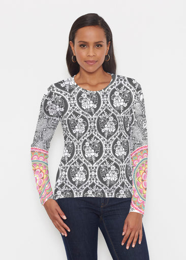 Moonlit Floral (13315) ~ Signature Long Sleeve Crew Shirt