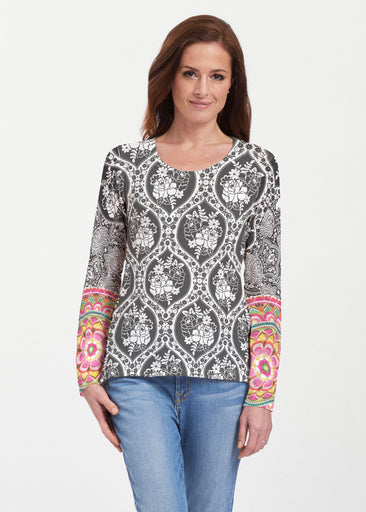 Moonlit Floral (13315) ~ Texture Mix Long Sleeve