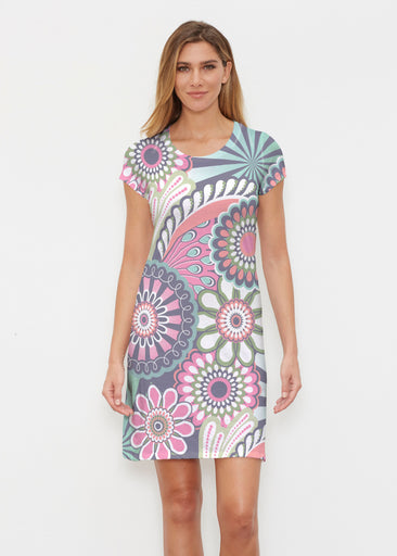 Mod Floral Splash (13323) ~ Classic Crew Dress