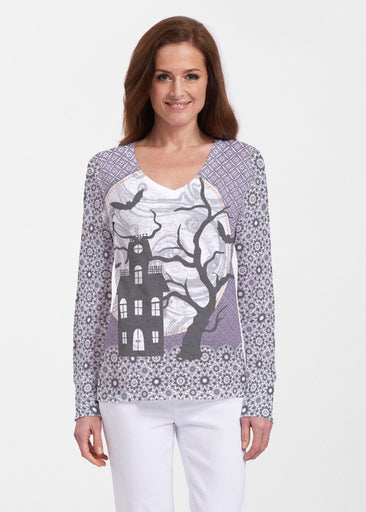 Trick or Treat (13336) ~ Thermal Long Sleeve V-Neck Shirt