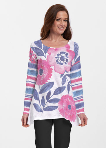 Watercolor Blooms (13355) ~ Abigail Thermal Tunic