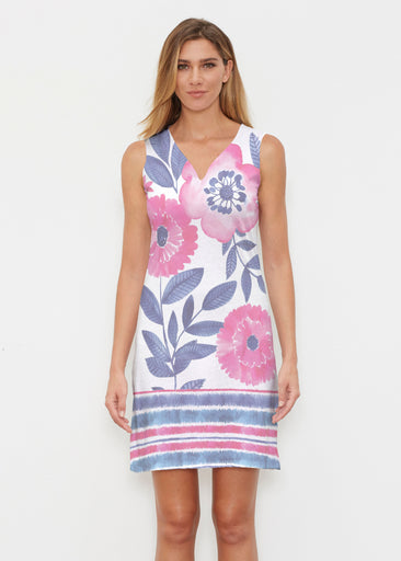 Watercolor Blooms (13355) ~ Classic Sleeveless Dress
