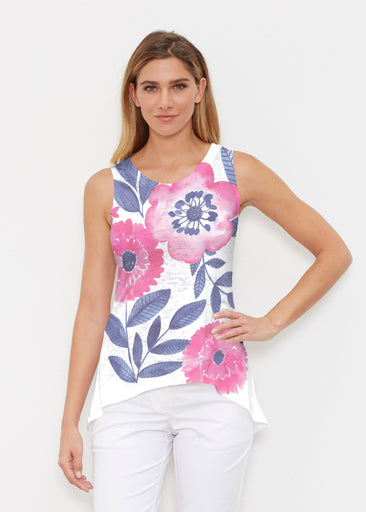 Watercolor Blooms (13355) ~ High-low Tank