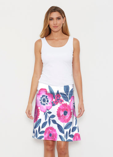 Watercolor Blooms (13355) ~ Silky Brenda Skirt 21 inch