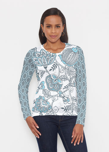 Namaste Floral (13366) ~ Signature Long Sleeve Crew Shirt