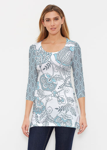 Namaste Floral (13366) ~ Buttersoft 3/4 Sleeve Tunic