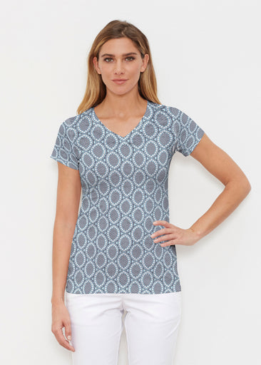 Namaste Lace (13370) ~ Signature Cap Sleeve V-Neck Shirt