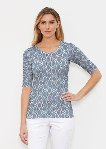 Namaste Lace (13370) ~ Elbow Sleeve Crew Shirt