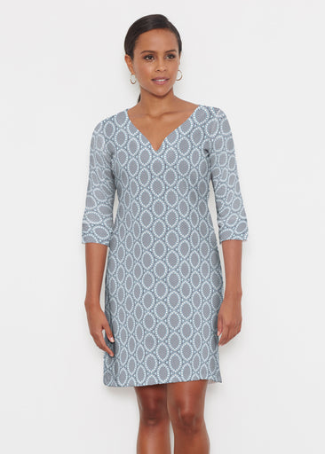 Namaste Lace (13370) ~ Classic 3/4 Sleeve Sweet Heart V-Neck Dress