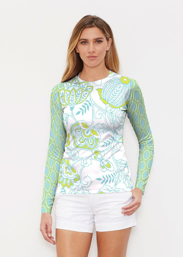 Namaste Lime (13374) ~ Long Sleeve Rash Guard