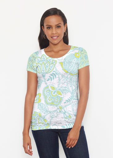 Namaste Lime (13374) ~ Short Sleeve Scoop Shirt