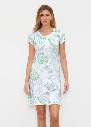 Namaste Green (13375) ~ Classic Crew Dress
