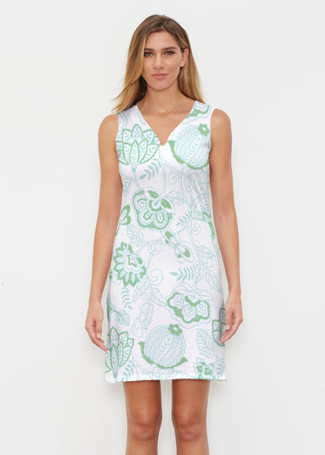 Namaste Green (13375) ~ Classic Sleeveless Dress