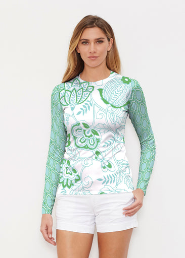 Namaste Green (13375) ~ Long Sleeve Rash Guard