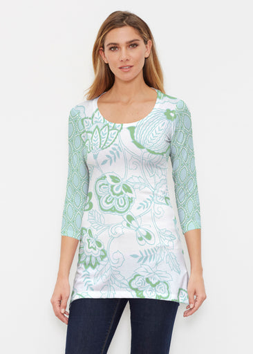 Namaste Green (13375) ~ Buttersoft 3/4 Sleeve Tunic
