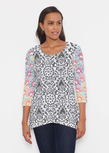 Darling Geo (13382) ~ Katherine Hi-Lo Thermal Tunic