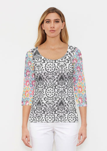 Darling Geo (13382) ~ Signature 3/4 Sleeve Scoop Shirt