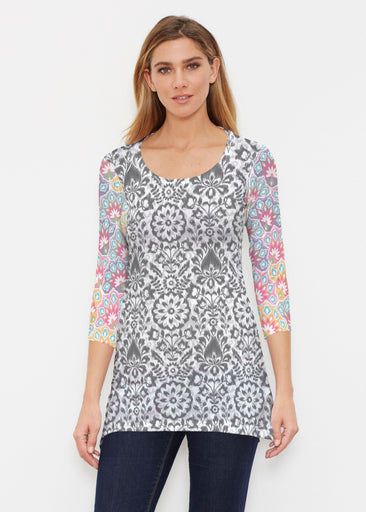 Darling Geo (13382) ~ Buttersoft 3/4 Sleeve Tunic