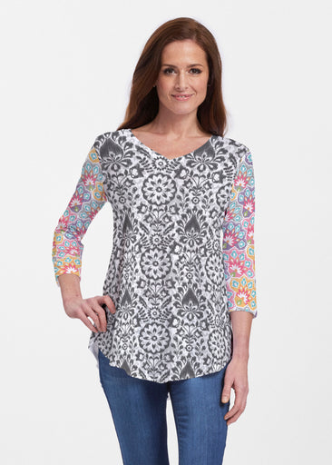 Darling Geo (13382) ~ V-neck Flowy Tunic