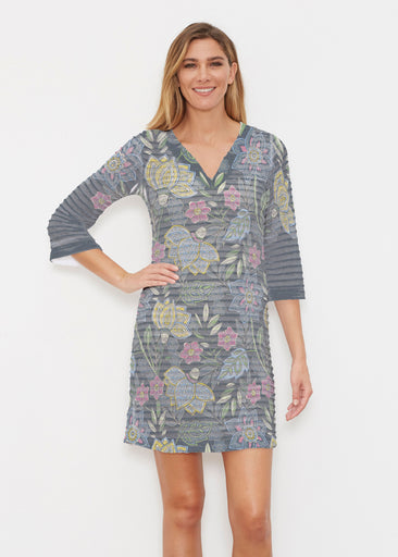 Isabellas Garden (13410) ~ Banded 3/4 Sleeve Cover-up Dress