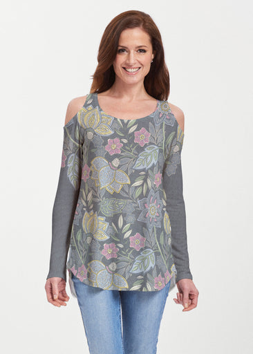 Isabellas Garden (13410) ~ Butterknit Cold Shoulder Tunic