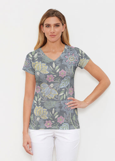 Isabellas Garden (13410) ~ Signature Cap Sleeve V-Neck Shirt