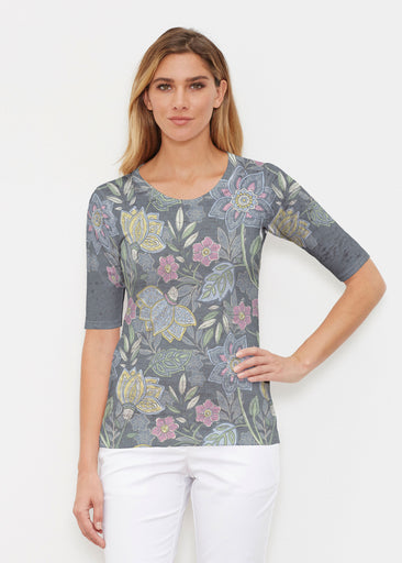 Isabellas Garden (13410) ~ Elbow Sleeve Crew Shirt