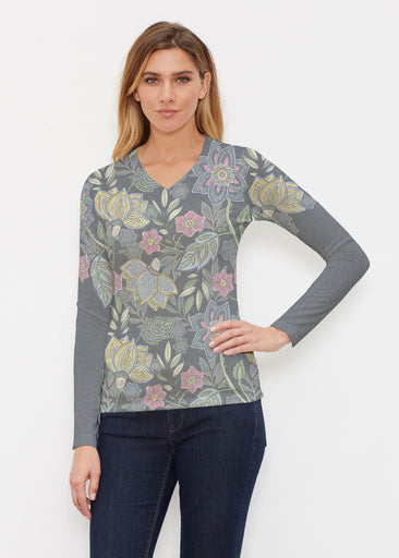 Isabellas Garden (13410) ~ Butterknit Long Sleeve V-Neck Top