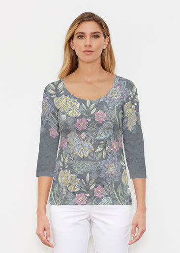 Isabellas Garden (13410) ~ Signature 3/4 Sleeve Scoop Shirt